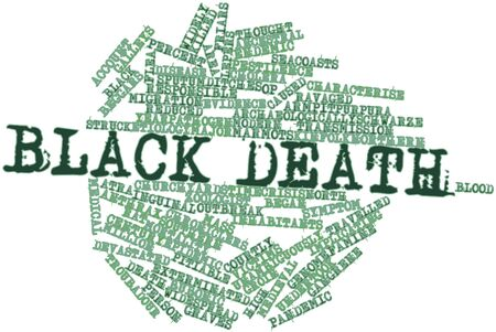 cholera: Abstract word cloud for Black Death with related tags and terms
