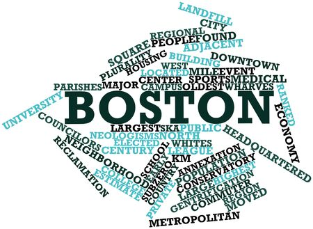 median age: Abstract word cloud for Boston with related tags and terms