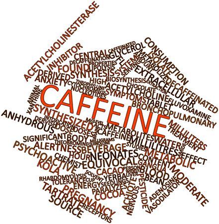 receptors: Abstract word cloud for Caffeine with related tags and terms
