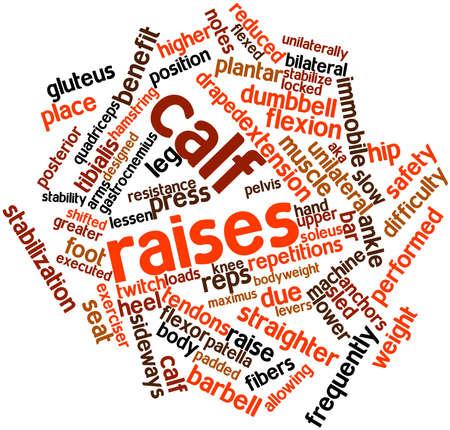 fu�sohle: Abstraktes Wort-Wolke f�r Wadenheben mit verwandten Tags und Begriffe