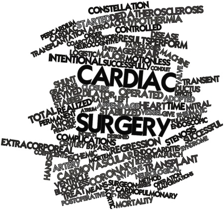 Abstract word cloud for Cardiac surgery with related tags and terms Stock Photo - 16720869