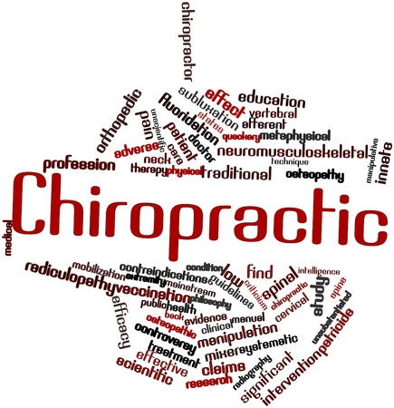 Abstract word cloud for Chiropractic with related tags and terms