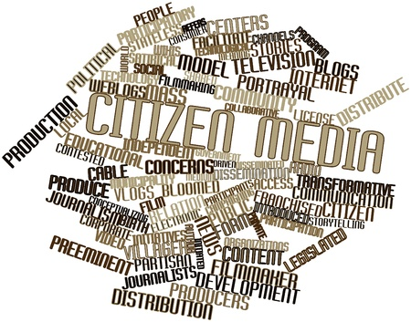 Abstract word cloud for Citizen media with related tags and terms photo