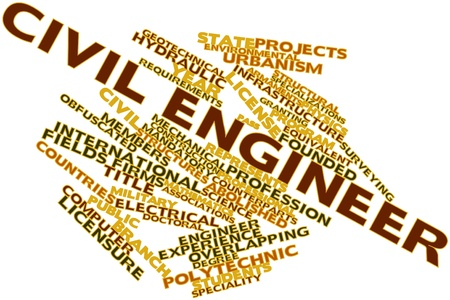 Abstract word cloud for Civil engineer with related tags and terms