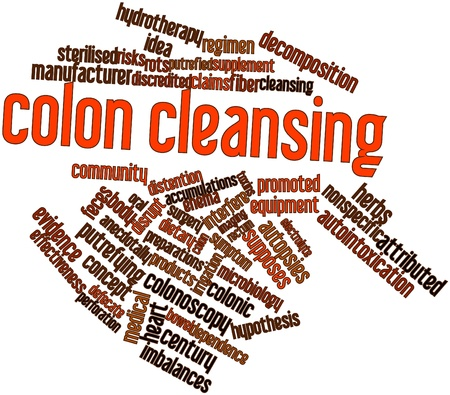 Abstract word cloud for Colon cleansing with related tags and terms