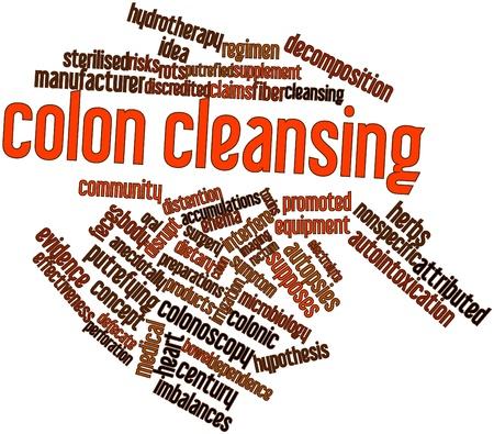 hip�tesis: Nube palabra abstracta para la limpieza de colon con las etiquetas y t�rminos relacionados
