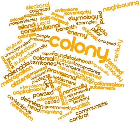 facto: Abstract word cloud for Colony with related tags and terms