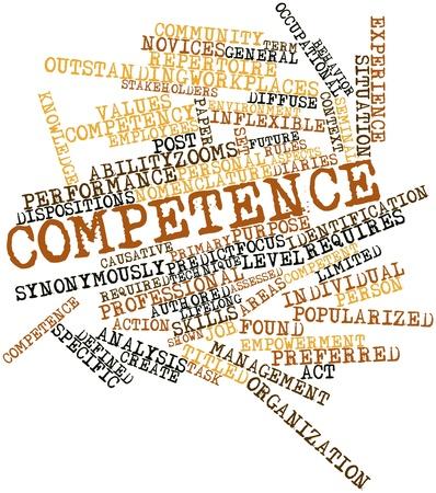 dispositions: Nube palabra abstracta para la Competencia con las etiquetas y t�rminos relacionados