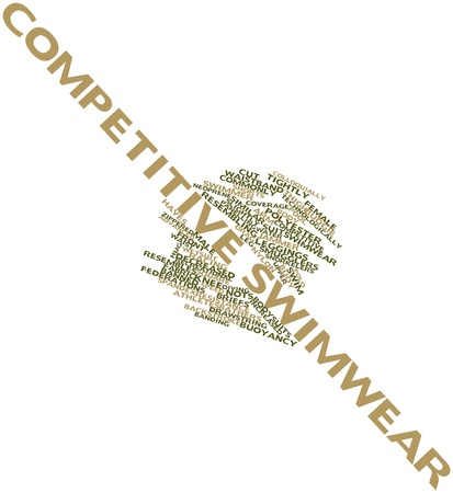 buoyancy: Abstract word cloud for Competitive swimwear with related tags and terms
