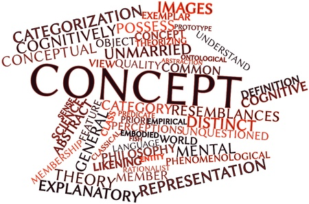 argued: Abstract word cloud for Concept with related tags and terms Stock Photo
