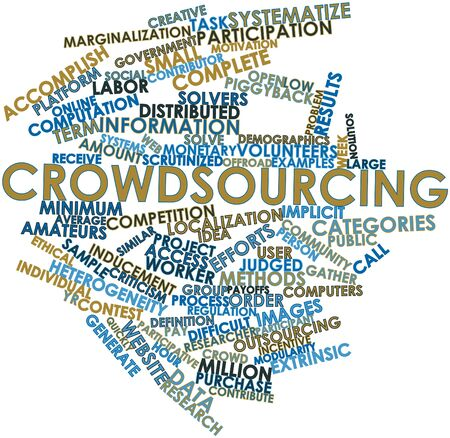 Abstract word cloud for Crowdsourcing with related tags and terms