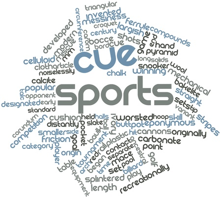 Abstract word cloud for Cue sports with related tags and terms Stock Photo - 16719839
