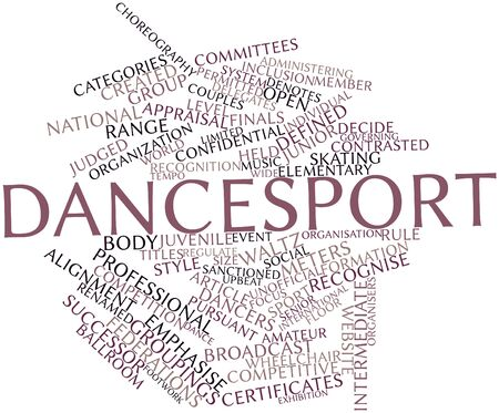 groupings: Abstract word cloud for Dancesport with related tags and terms