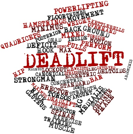 record breaking: Abstract word cloud for Deadlift with related tags and terms