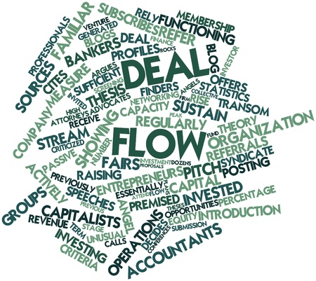 Abstract word cloud for Deal flow with related tags and terms