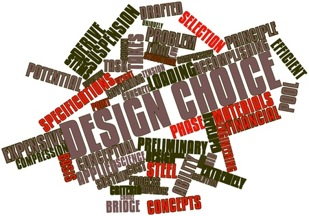 Abstract word cloud for Design choice with related tags and terms photo