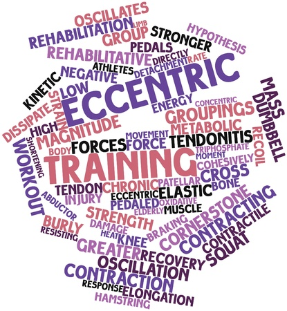 oxidative: Abstract word cloud for Eccentric training with related tags and terms