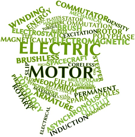 axial: Abstract word cloud for Electric motor with related tags and terms