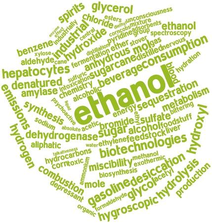 destilacion: Nube palabra abstracta para el etanol con las etiquetas y términos relacionados