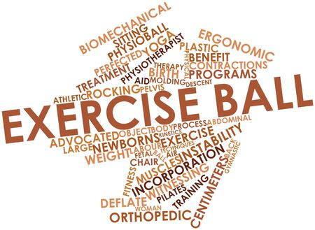 Abstract word cloud for Exercise ball with related tags and terms photo