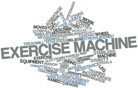 exercise machine: Abstract word cloud for Exercise machine with related tags and terms