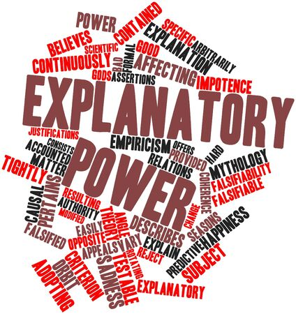 explanatory: Abstract word cloud for Explanatory power with related tags and terms