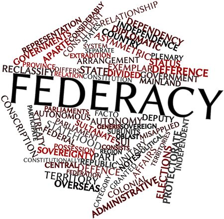 dissolved: Abstract word cloud for Federacy with related tags and terms