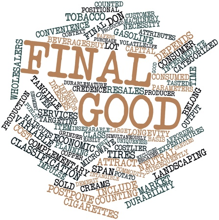 cost basis: Abstract word cloud for Final good with related tags and terms