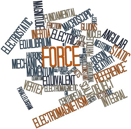 Abstract word cloud for Force with related tags and terms Stock Photo - 16720847