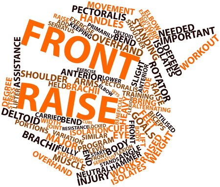 front raise: Abstract word cloud for Front raise with related tags and terms