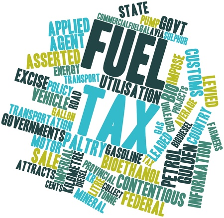 exemptions: Abstract word cloud for Fuel tax with related tags and terms
