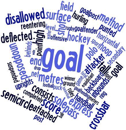 terrain de handball: Nuage de mot abstrait pour l'objectif avec des étiquettes et des termes connexes