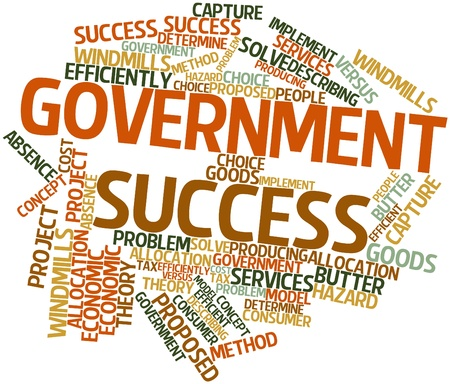 economic theory: Abstract word cloud for Government success with related tags and terms