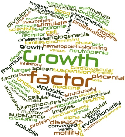 endothelial: Abstract word cloud for Growth factor with related tags and terms