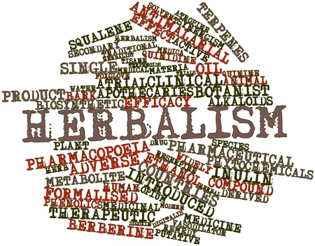 atrial: Abstract word cloud for Herbalism with related tags and terms