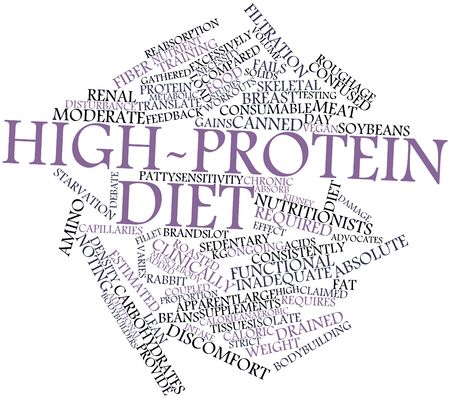 Abstract word cloud for High-protein diet with related tags and terms Stock Photo - 16720319