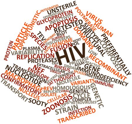 macrophage: Abstract word cloud for HIV with related tags and terms