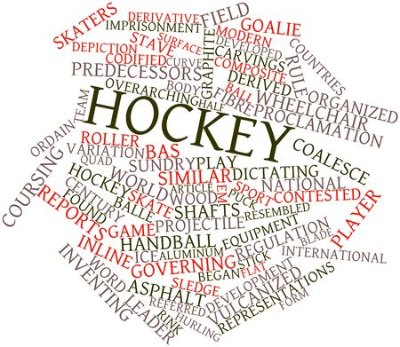 Abstract word cloud for Hockey with related tags and terms Stock Photo - 16720754