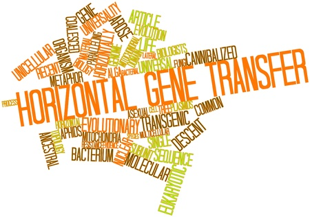 distantly: Abstract word cloud for Horizontal gene transfer with related tags and terms Stock Photo