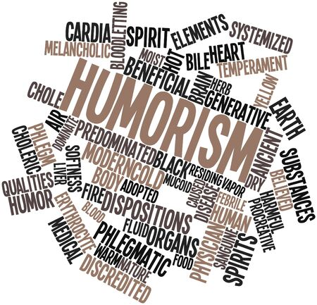 dispositions: Abstract word cloud for Humorism with related tags and terms Stock Photo