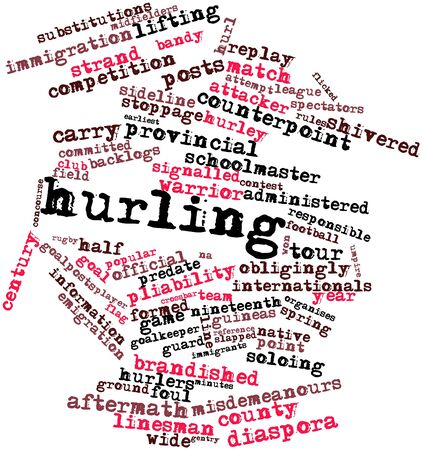 obliged: Abstract word cloud for Hurling with related tags and terms Stock Photo
