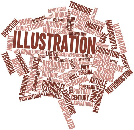 commonplace: Abstract word cloud for Illustration with related tags and terms