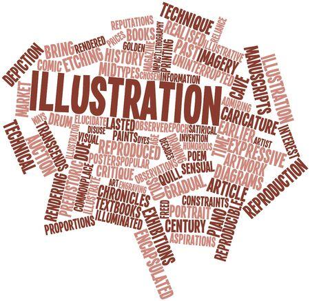 commonplace: Word cloud astratto per Illustrazione con tag correlati e termini