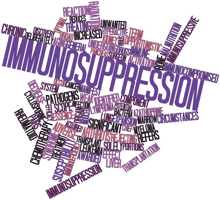 Abstract word cloud for Immunosuppression with related tags and terms Stock Photo - 16720904