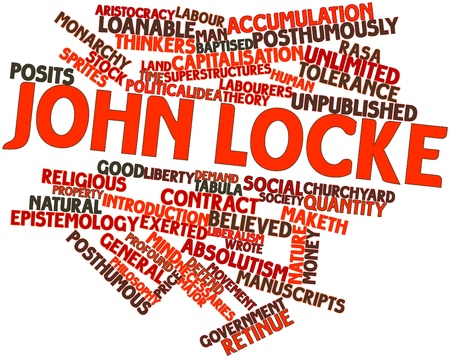 Abstract word cloud for John Locke with related tags and terms Stock Photo - 16720608