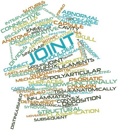 artritis: Nube palabra abstracta para conjunto con las etiquetas y términos relacionados