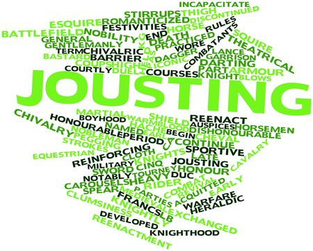 tourney: Abstract word cloud for Jousting with related tags and terms