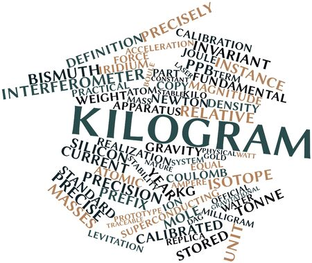 tonne: Abstract word cloud for Kilogram with related tags and terms