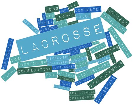 restraining: Abstract word cloud for Lacrosse with related tags and terms