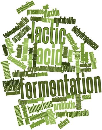 acido: Nube palabra abstracta para la fermentaci�n del �cido l�ctico con etiquetas y t�rminos relacionados